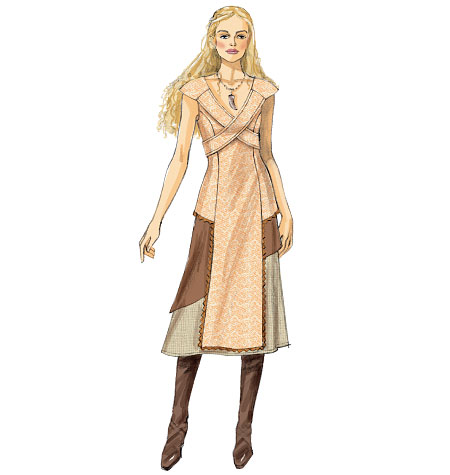 daenerys sewing pattern art